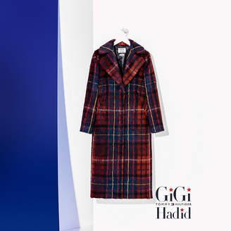 Tommy Hilfiger Tartan Wool Coat Gigi Hadid