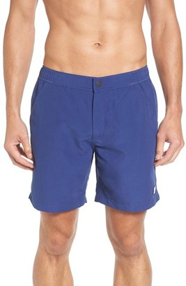 Men's Tom & Teddy Solid Swim Trunks $125 thestylecure.com