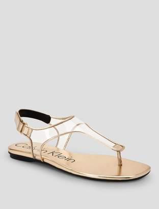 Calvin Klein shilo metallic leather sandal