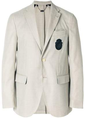 Billionaire chest patch blazer