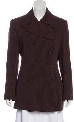 Gucci Pinstriped Double-Breasted Blazer brown Pinstriped Double-Breasted Blazer