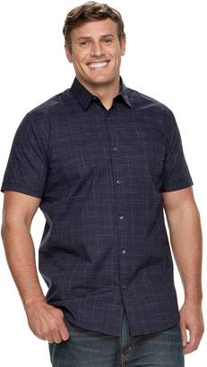 Apt. 9 Big & Tall Premier Flex Plaid Modern-Fit Stretch Woven Button-Down Shirt
