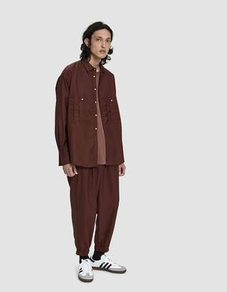 Dima Leu Overdyed Jersey Pant in Brown