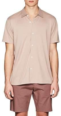 Theory Men's Stockinette-Stitched Silk-Cotton Shirt