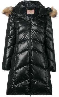 Twin-Set padded hooded coat