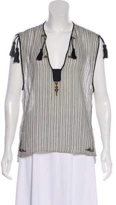 Etoile Isabel Marant Embroidered Sleeveless Top