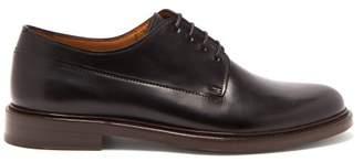A.P.C. Samuel Leather Derby Shoes - Mens - Black
