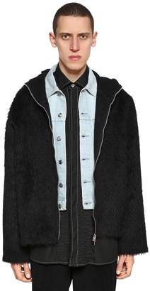 Our Legacy Hooded Mohair & Alpaca Blend Jacket