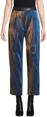 Dries Van Noten Women's Lame Cropped Pants