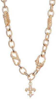Judith Ripka Gold Plated Sterling Silver CZ Chain Necklace