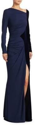 Talbot Runhof Velvet Jersey Gown