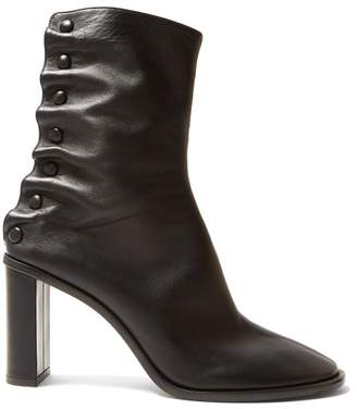 The Row Tea Time Leather Boots - Womens - Black