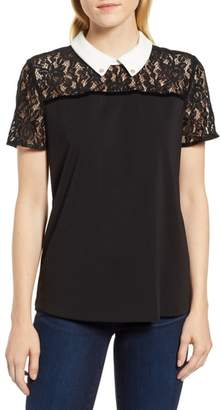 Karl Lagerfeld PARIS Lace Yoke Blouse