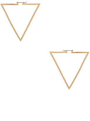 Ettika Triangle Hoops in Metallic Gold. $55 thestylecure.com