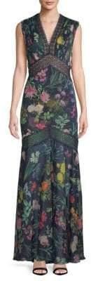 Tadashi Shoji Floral Floor-Length Dress
