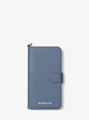 Michael Kors Saffiano Leather Folio Phone Case For Iphone7/8 Plus