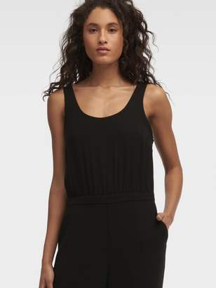 DKNY Wide Leg Sleeveless Jumpsuit