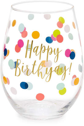 Slant Collections Happy Birthyay Wine Glass