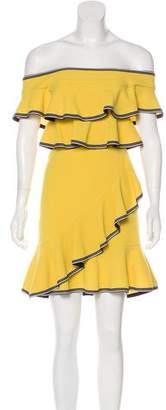 Rebecca Vallance Ruffle-Trimmed Mini Dress w/ Tags