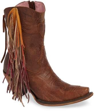 LANE BOOTS Fringe Western Bootie