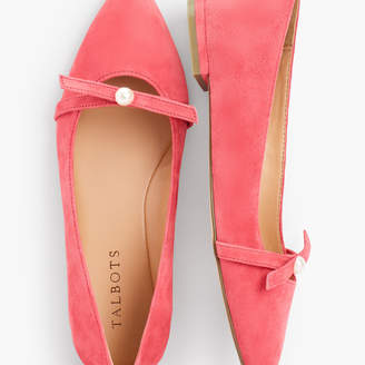 Talbots Poppy Pearl Ballet Flats - Suede