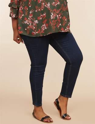 fb29146f92e93 Motherhood Maternity Indigo Blue Plus Size Secret Fit Belly Super Stretch  Skinny Maternity Jeans
