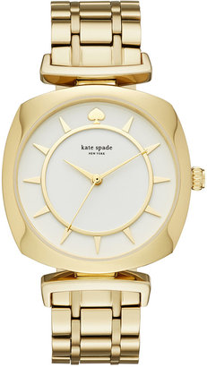 kate spade new york Women's Barrow Gold-Tone Stainless Steel Bracelet Watch 34mm KSW1227 $250 thestylecure.com