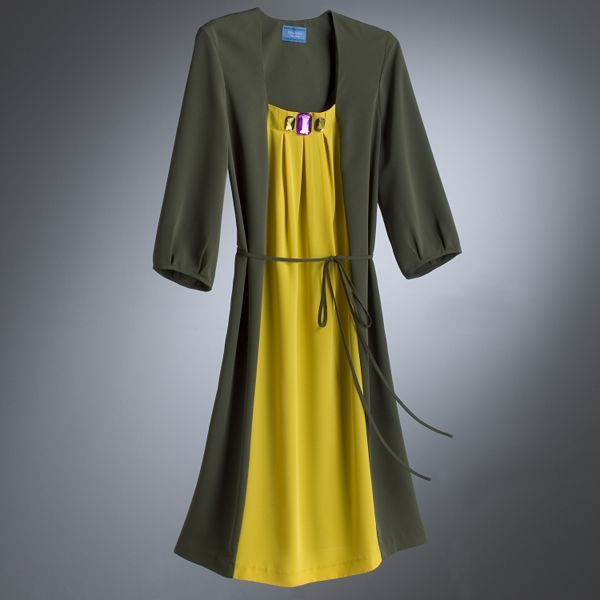 Simply Vera Vera Wang Jewel Colorblock Dress