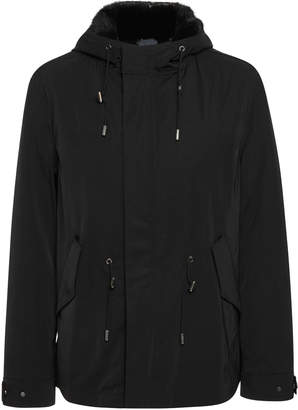 Yves Salomon Paris Mink-Lined Wool Gabardine Parka