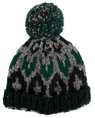 Moncler Wool-Blend Knitted Beanie green Wool-Blend Knitted Beanie