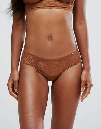 Dorina Tone On Tone Lana Nude Lace Brief In Medium