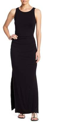 Socialite Fitted Side Shirred Maxi Dress
