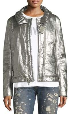 Helmut Lang Re-Edition Metallic Foil Bomber