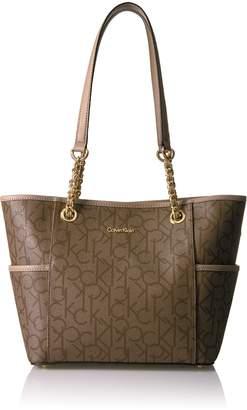 Calvin Klein Key Item Chain Monogram Tote Tote Bag
