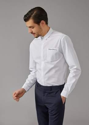 Giorgio Armani Shirt With Breast Pocket Signature Detail