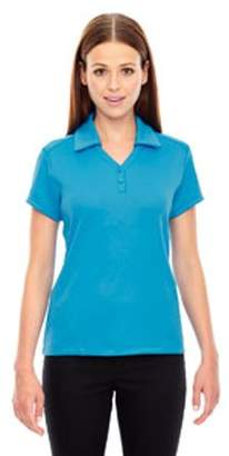 Ash City - North End Ladies' Exhilarate Coffee Charcoal Performance Polo with Back Pocket
