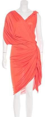 Lanvin Draped Midi Dress w/ Tags