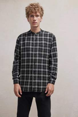 French Connenction Worsted Checked Wool Shirt