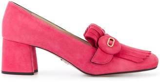 Prada button-embellished loafers