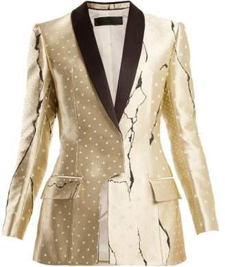 Haider Ackermann Polka Dot Jacquard Jacket - Womens - Gold