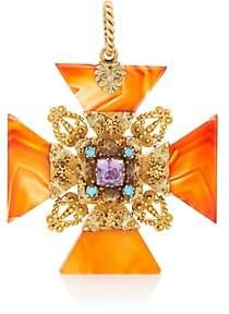 Stephanie Windsor Antiques Women's Maltese Cross Pendant - Gold