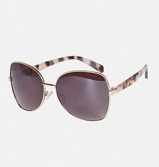 Avenue Wire Frame Tortoise Stem Sunglasses