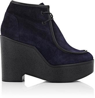 Robert Clergerie Women's Bora Suede Platform Moccasin Boots $595 thestylecure.com
