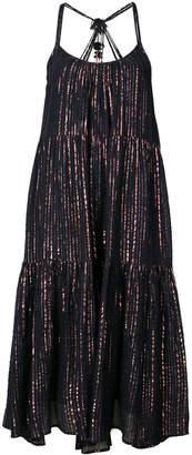 Ulla Johnson metallic thread tiered dress