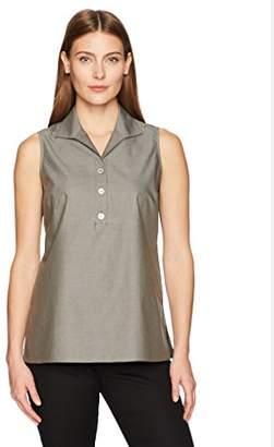 Foxcroft Women's Dani Solid Non Iron Sleeveless Shirt