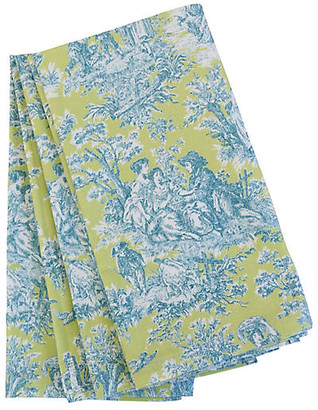 One Kings Lane Vintage French Country Toile Napkins - Set of 4