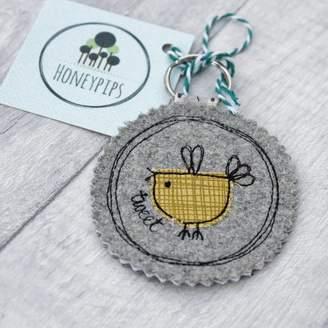 Honeypips Fabric Birdy Key Ring