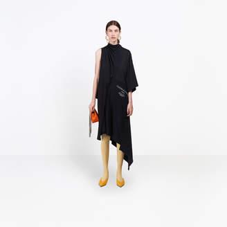 Balenciaga Patchwork destructured and asymmetrical dress