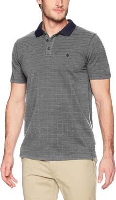 Volcom Men's Wowzer Plaid Short Sleeve Polo Shirt