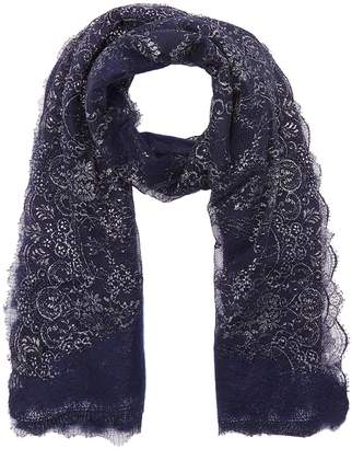 Franco Ferrari Needle punch diamond lace scarf